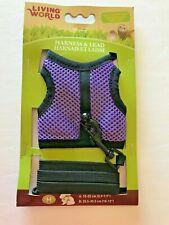 Living World Ferret Harness & Lead Set Walking Jacket - Medium - 60866 Purple