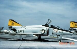 MILITARY AIRCRAFT SLIDE - F-4N US NAVY 153065 AD-206 - 1980 - DUPLICATE