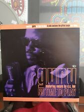 "Guru -  no time to play/ jazz thing  1993 UK 7"" Cooltempo cool 282"
