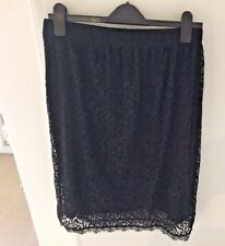 Black Lace Skirt by Sheego Size 18
