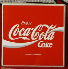 COCA COLA COKE LARGE SHOP FRONT STICKER 1980'S