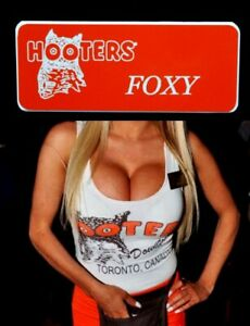 Hooters Uniform Foxy Name Tag Pin Back Dress Role Play Costume Accessory