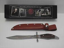 """KNIFE ,DANIEL BOONE VI (SALE 30% OFF) WW2, SS WALNUT HANDLE, 6"""" BLADE. SHEATH"""