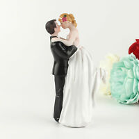 AU_ Romantic Cake Topper Bride and Groom Resin Figurines Ornament Wedding Decor