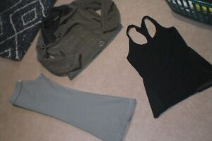 Lot of Lululemon Groove Pants, Audrey Jacket and Tank sz 8