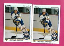 2 X 1990-91 UPD # 516 SABRES ROB RAY  ROOKIE NRMT-MT FRENCH CARD (INV# C2945)