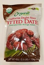 2.5lb No Sugar Added Organic Mariani Deglet Noor Pitted Dates Kosher Gluten Free