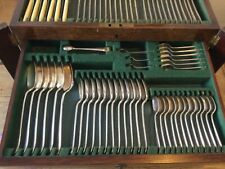 """More details for large gladwin ltd., sheffield """"embassy"""" plate canteen of cutlery, 132 pieces"""
