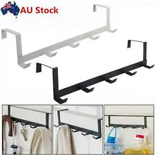 2pcs Metal 5Hooks Over-The-Door Hook Rack Hat Clothes Hook Hanger No-Punching AU