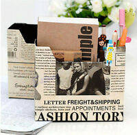 DIY Paper Board Newspaper Storage Stationery  Makeup Cosmetic Desk Organizer