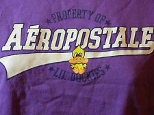 Aéropostale Property of Lil' Duckies Purple T-Shirt Tee Ladies Juniors Size Smal