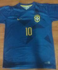 Mens Nike Brazil Neymar Blue Soccer Jersey Size Medium