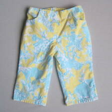 Lilly Pulitzer Girls 2T JUNKANOO Blue Yellow Cropped Pants EUC Elephant Giraffe