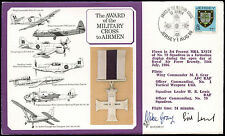 Jersey 1986 RAF DM12 Military Cross Medal Flown Signed Cover #C24938