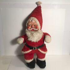 antique authentic 1930s large stuffed rubber face Santa doll