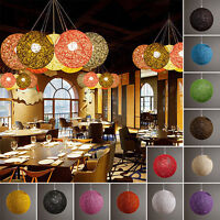 Modern Abaca Rattan / Wicker Style Ceiling Pendant Light Lamp Shades Lampshades