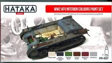 Hataka Hobby Paints WORLD WAR II AFV INTERIOR COLORS Acrylic Paint Set