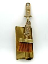 Brass Fire Side Dust Pan And Brush Souvenir William Shakespeare