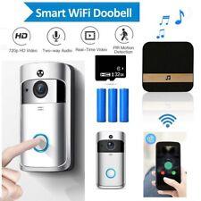 Wireless WiFi Video Doorbell Smart Phone Door Intercom Security HD Camera Bell C