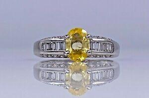 18K/750 Weißgold schöner Ring mit ca. 1.72ct Saphir und Diamanten 56/17.80mm