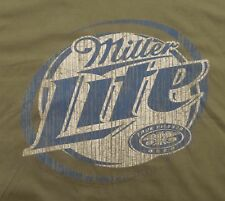 Miller Lite Pilsner Beer Distressed Look Retro T-Shirt Large New Without Tags