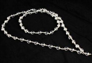 Sphatik Mala In Silver / Quartz Crystal Mala In Silver 108 + 1 Beads