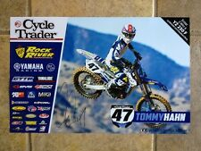 *TOMMY HAHN*SIGNED*AUTOGRAPHED*POSTER*YAMAHA*CYCLE TRADER*ROCK RIVER*COA*PROOF*