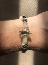 Libyan Desert Glass Moldavite Nuummite Cosmic Vibe Bracelet
