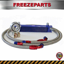 7 Rows Universal AN-10AN Aluminum Engine Oil Cooler Blue + Filter Relocation Kit