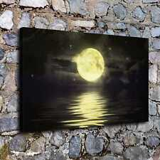 0301-Sea Moon Poster Home Decor HD Canvas Print Picture Room Wall Art Painting