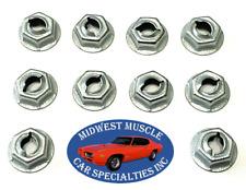"Ford 3/16"" Stud Dash Trim Molding Clip Emblem Pal Thread Cutting Speed Nuts 10 Q"