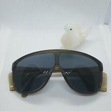 Vintage Spectra  Willson Safety Glasses  Brown Frame Steel Blue Lens