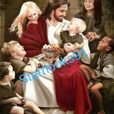 JESUS WITH CHILDREN 8 x 10  photo catholic christian religious bible