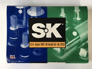 """SK PROFESSIONAL TOOLS Torx Socket Set,1/4"""",3/8"""",1/2"""" Dr,35 pc, 19763. """"New"""""""