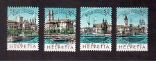 SWITZERLAND 1984 #749a/d SET VF USED, NABA ZURI PHILATELIC EXHIBITION POSTMARK !