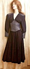 North Beach Leather  N.B.L. Vintage Womens Purple Leather suede Dress XS SZ 2