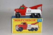 MATCHBOX LESNEY #71C FORD ESSO OIL HEAVY WRECK TRUCK, EXCELLENT, BOXED, LOT A