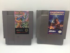 Nintendo NES System Wizards and Warriors 1 2  I II Two Game Lot