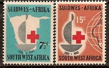SOUTH WEST AFRICA 1963 RED CROSS SC # 295-296 MNH