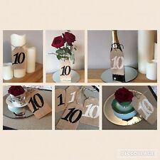 Wedding Table Numbers 1- 10 Vintage Hessian Burlap