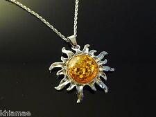 Solar Sun Pendant necklace chain pendant yule wicca pagan silver summer solstice