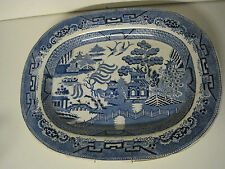 vintage - grand plat à décor chinois signé STONE IMPERIAL CHINA