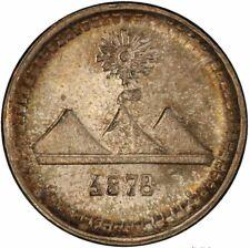 Guatemala 1/4 Real 1878-G, PCGS MS66 Secure Holder, Medium G KM# 146a.3