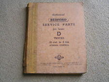 Authorised Bedford Service Parts For Series D Trucks. 1962.