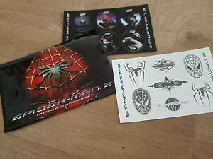 SPIDERMAN 3 RARE 2007 promotional STICKER tattoo set ORIGINAL MARVEL SUPER HERO