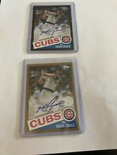 Mark Grace Auto Two 2 Card Lot Black&Gold Border SP/50 & /199 2020 Topps Series2