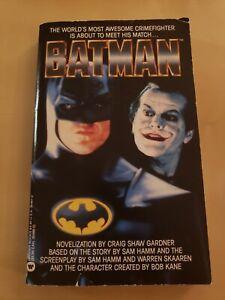 BATMAN movie novelization by Craig Shaw Gardner 1989 PAPERBACK