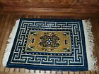 """Small Antique Chinese Rug Antique Peking Stich wool very nice 32 x 22 """""""