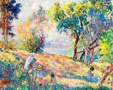 Girls in a Landscape by Henri Lebasque Art Impressionist Sunny 8x10 Print 0667