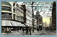 VINTAGE POSTCARD - CHURCH STREET LIVERPOOL - Posted 1906
